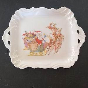 Vintage Ceramic ChristmasTray
